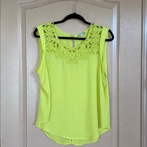 Tops - Lime Green Sleeveless Top